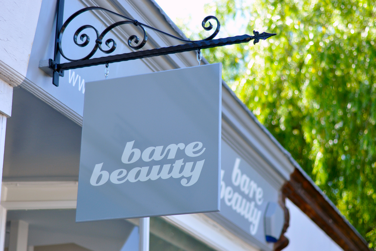 Bare Beauty shop front and sign