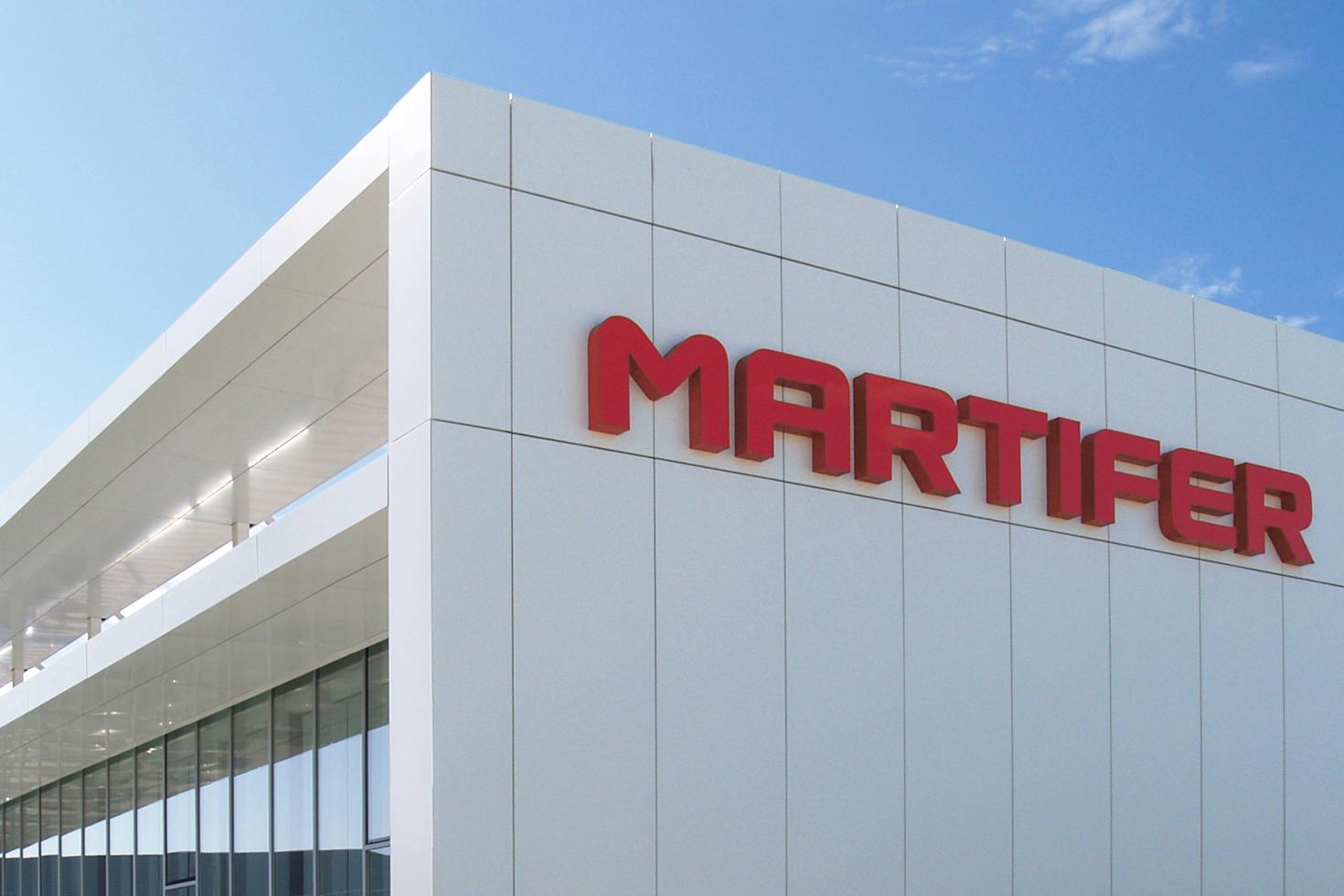Martifer sign on building