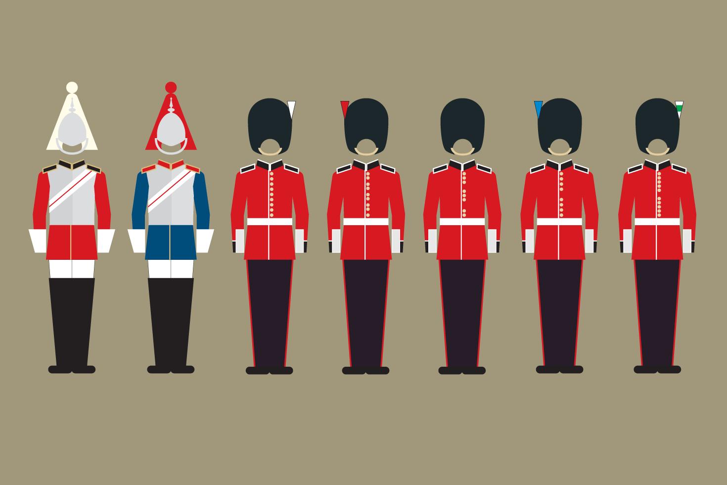 TRUE illlustration of guards uniforms