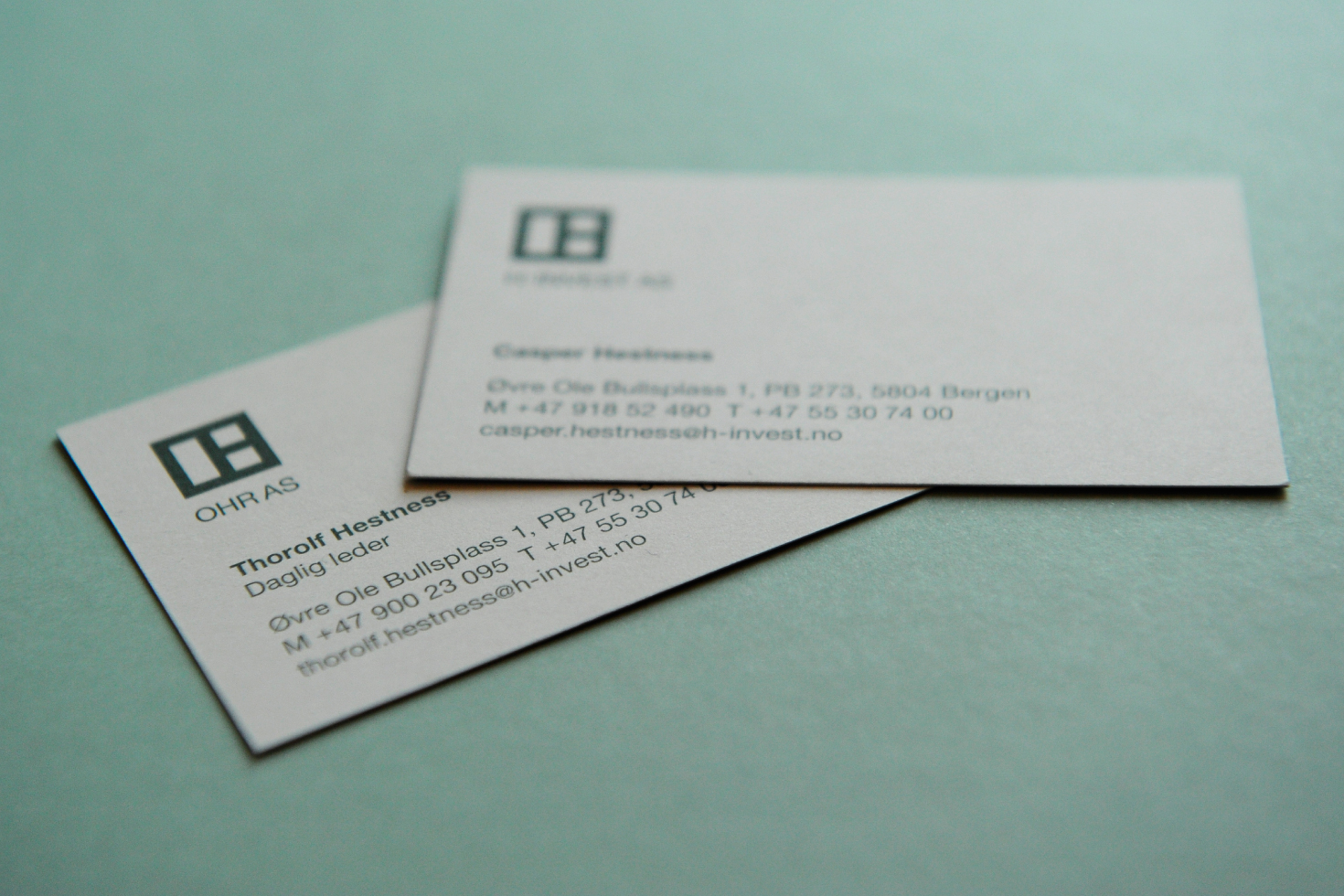 H-Invest business card