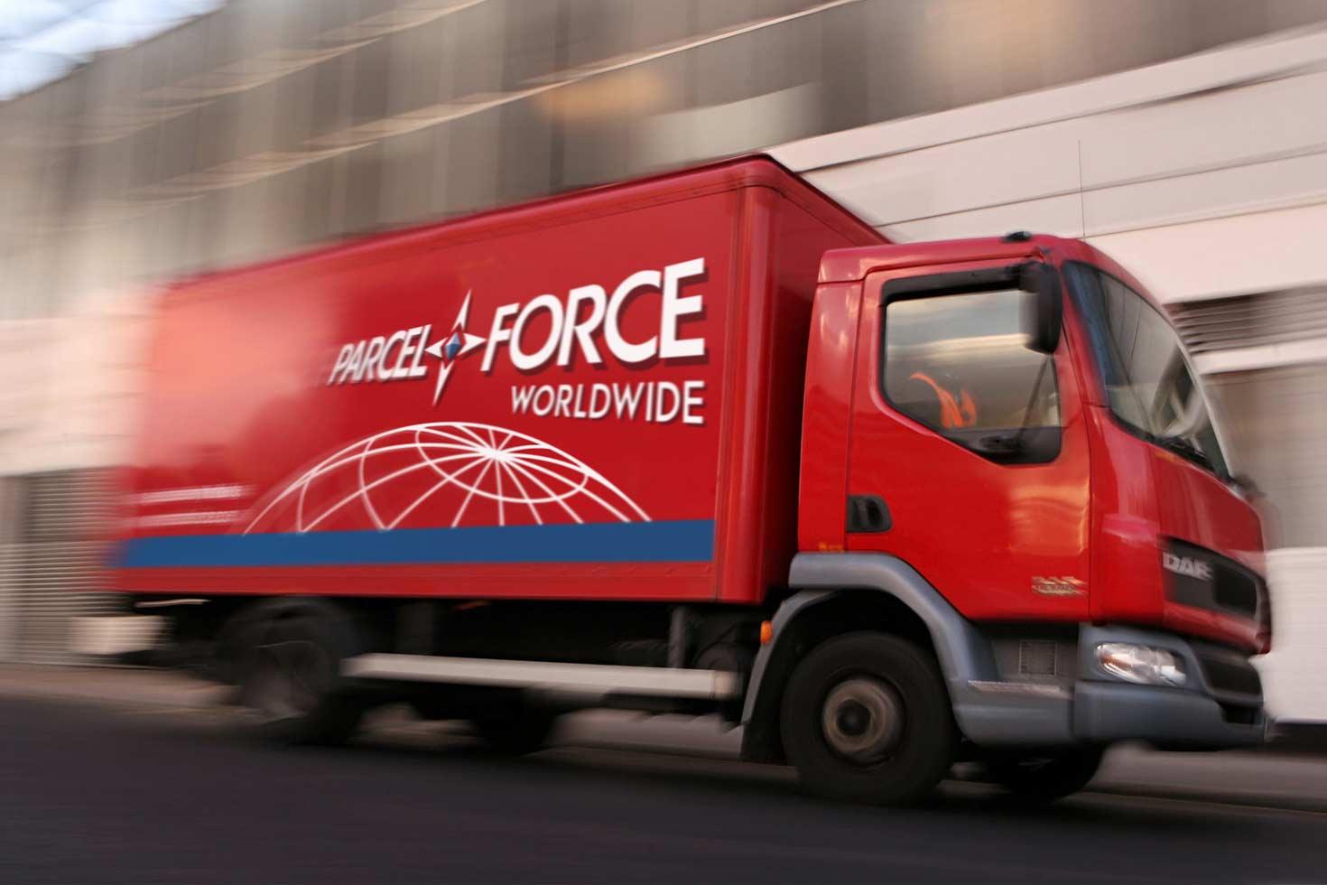 Parcelforce logo on truck
