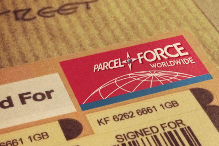 Parcelforce label