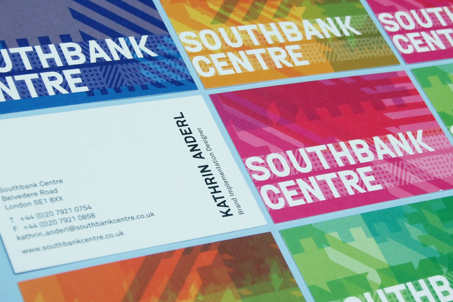 Southbank Centre business cards