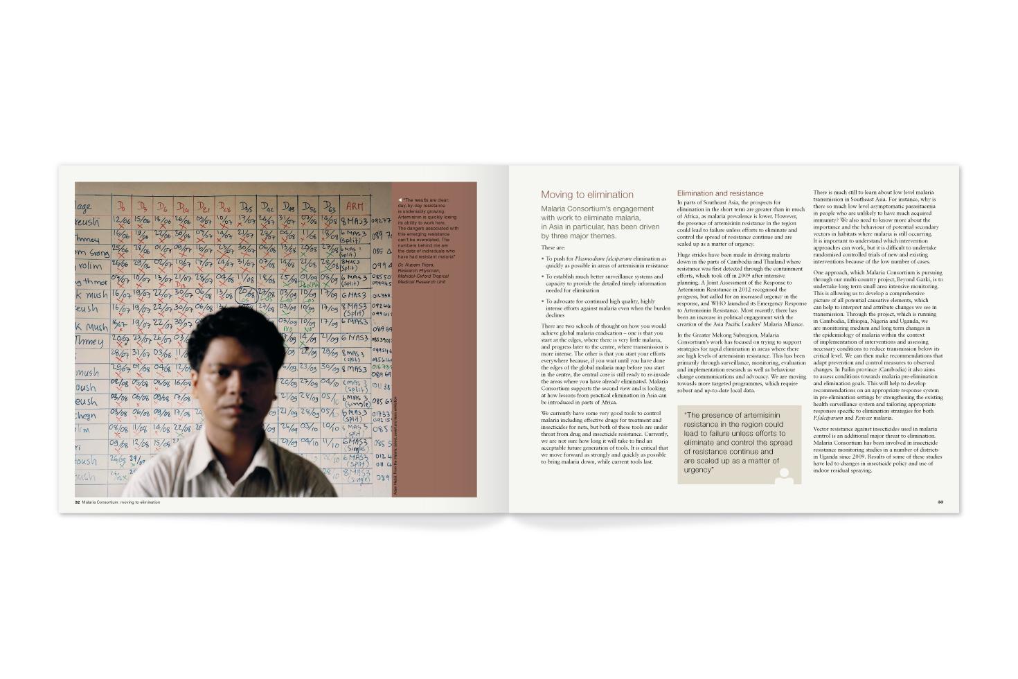 Malaria Consortium report pages