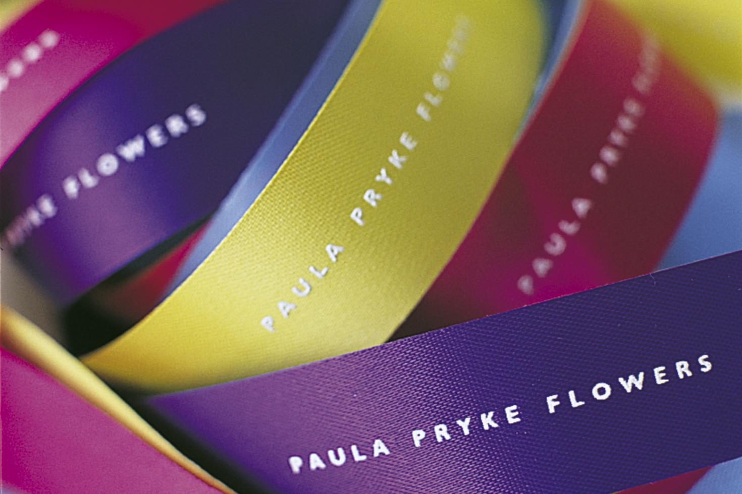Paula Pryke Flowers ribbon