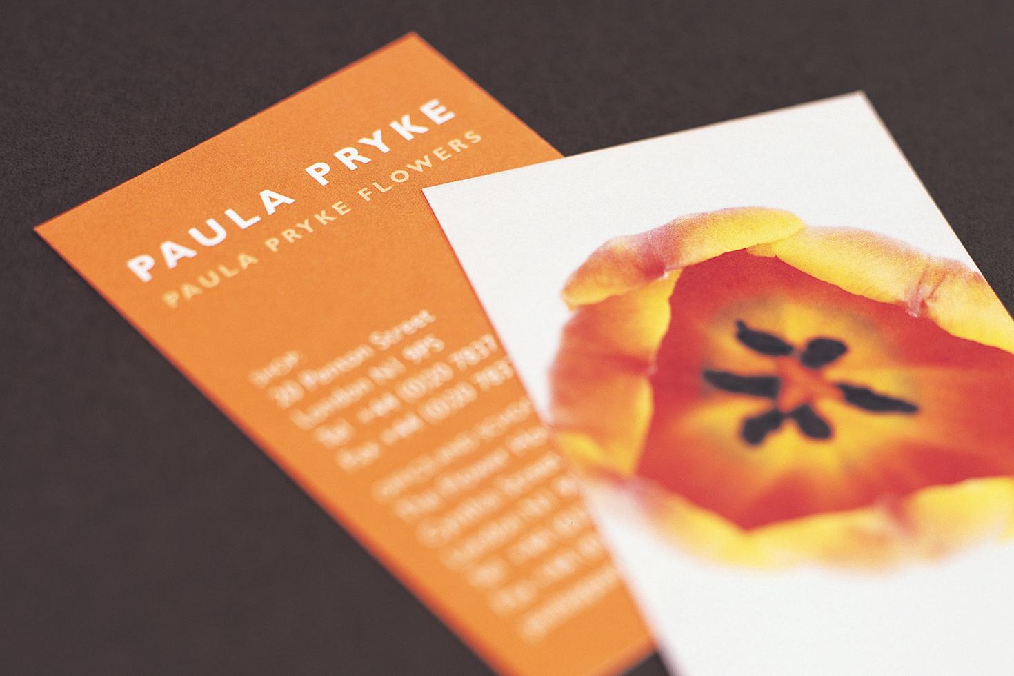 Paula Pryke Flowers business cards