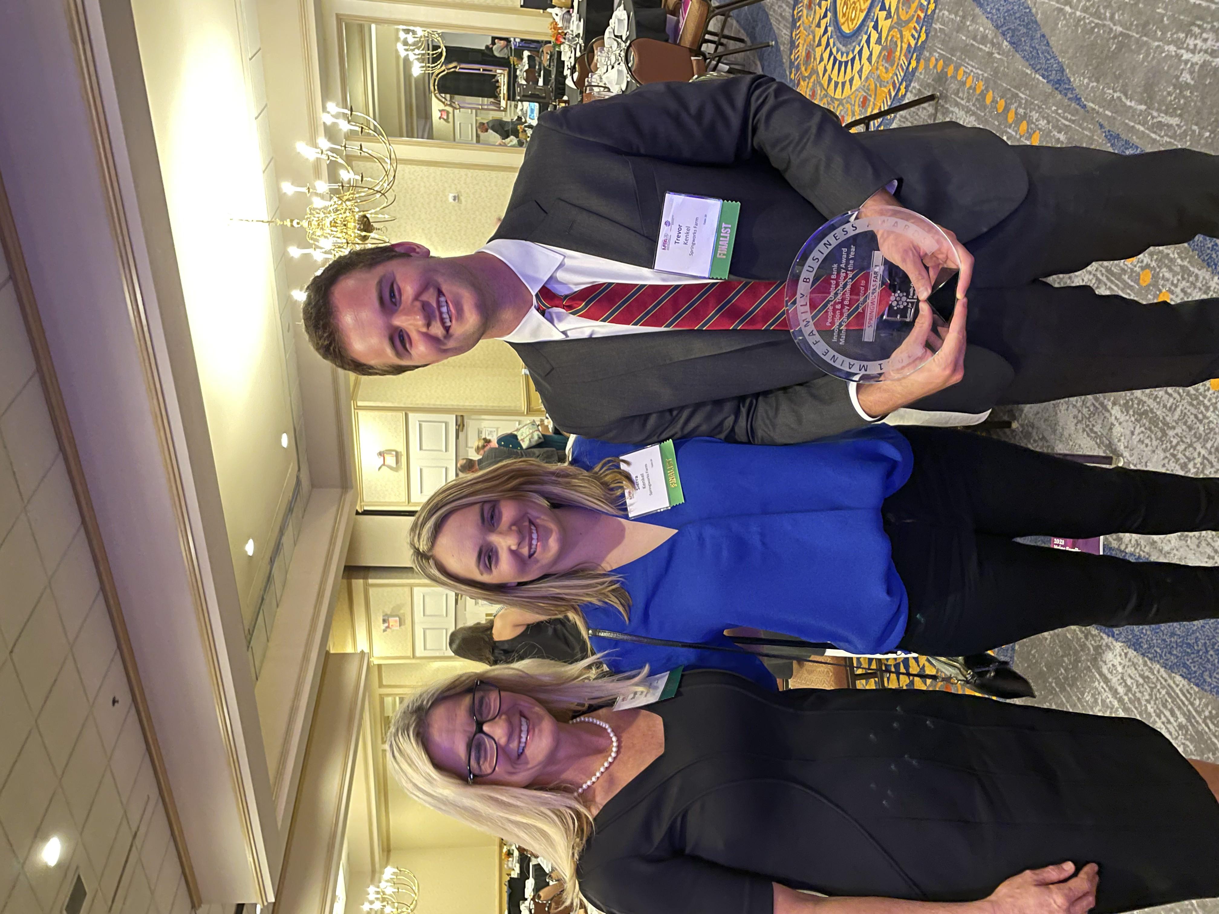 Stephanie, Sierra & Trevor Kenkel at the Maine Family Business Awards