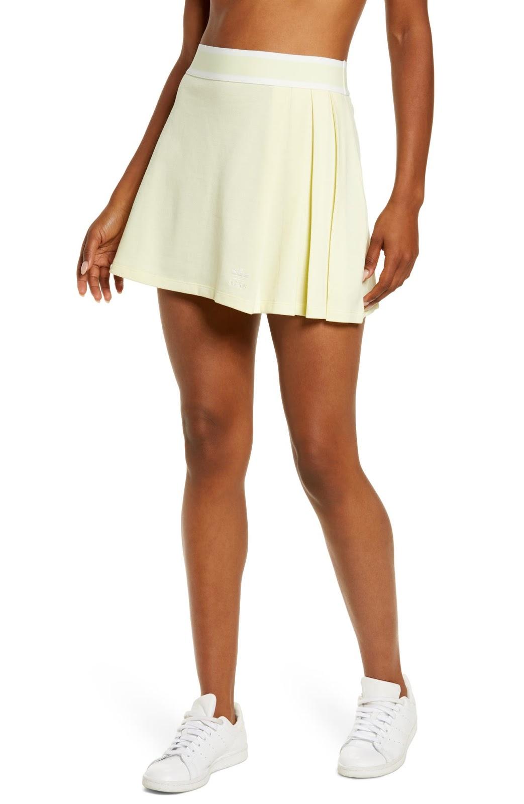 ADIDAS ORIGINALS Tennis Skirt, Main, color, HAZY YELLOW