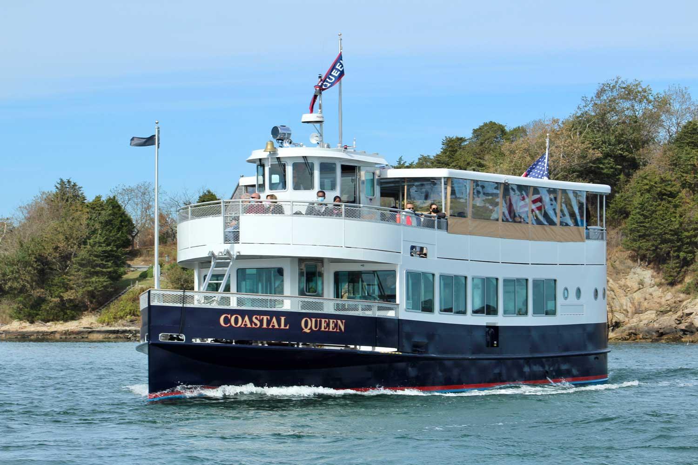 Newport RI scenic boat tour aboard Coastal Queen Cruises