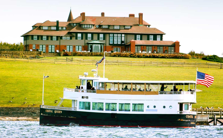 Jackie Kennedy Hammersmith Farm in Newport RI view aboard Coastal Queen Cruises