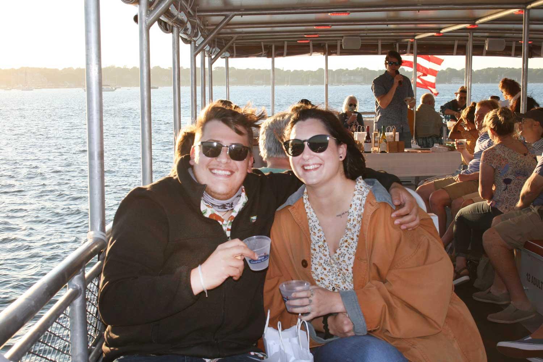Newport RI open air boat tour aboard Coastal Queen Cruises