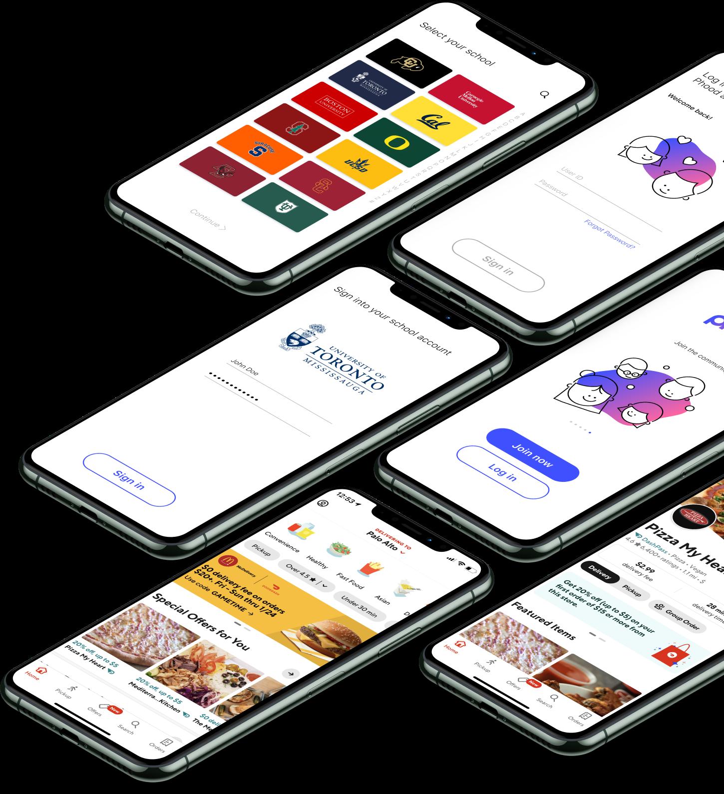 Multiple renderings of our app.