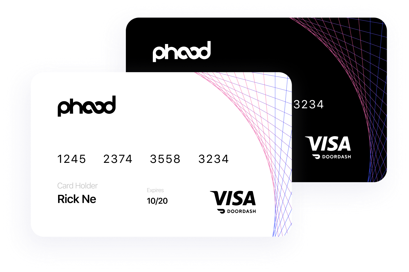 A rendering of the phood debit card.