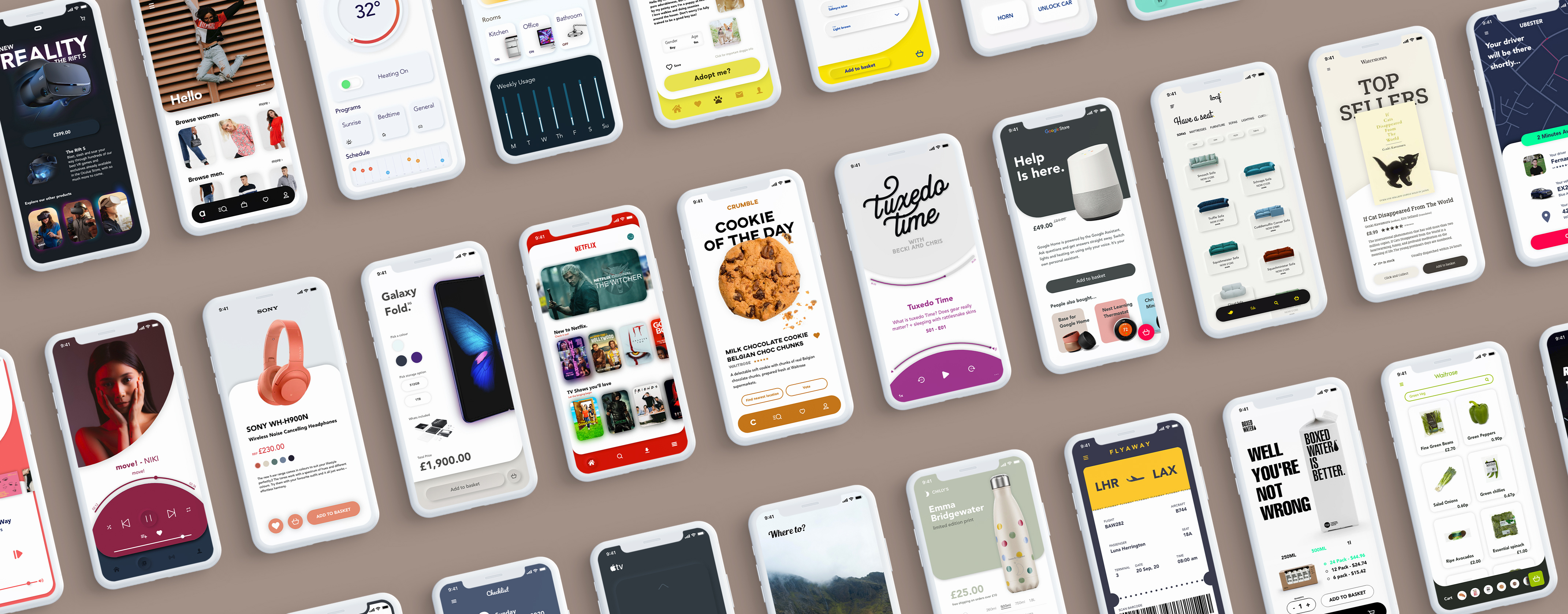 30 mockups of ui designs