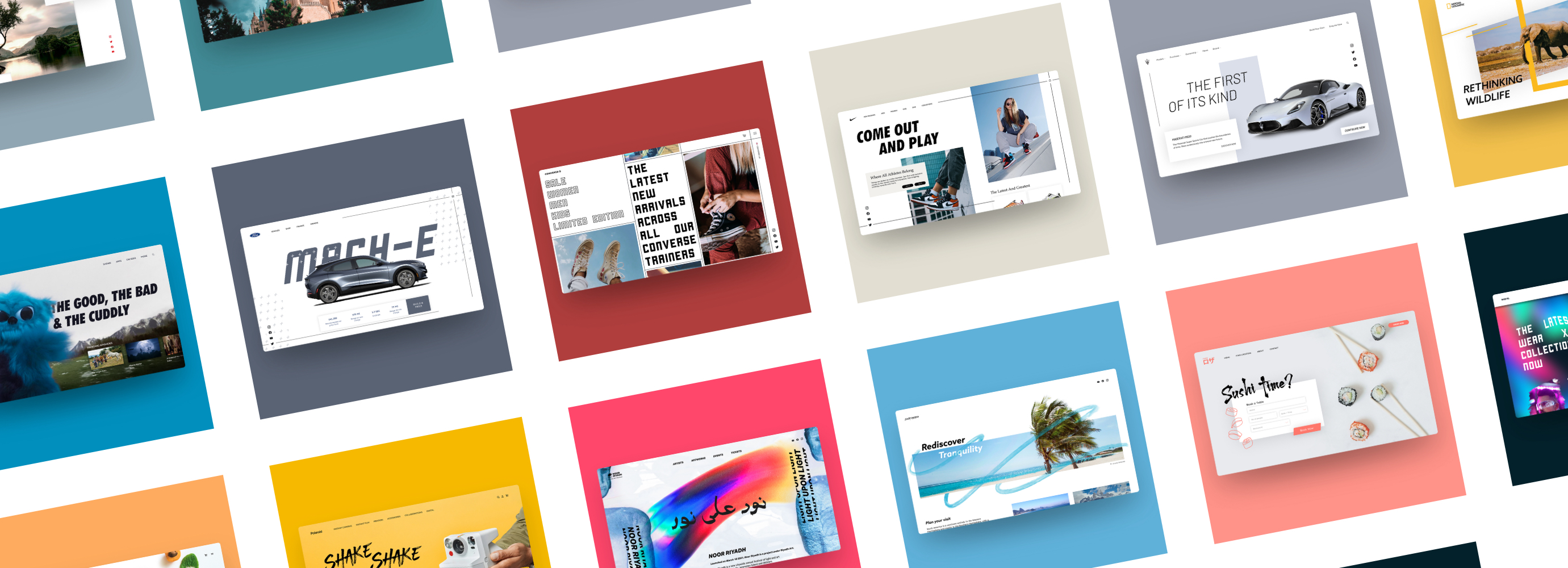 Collage of web designs