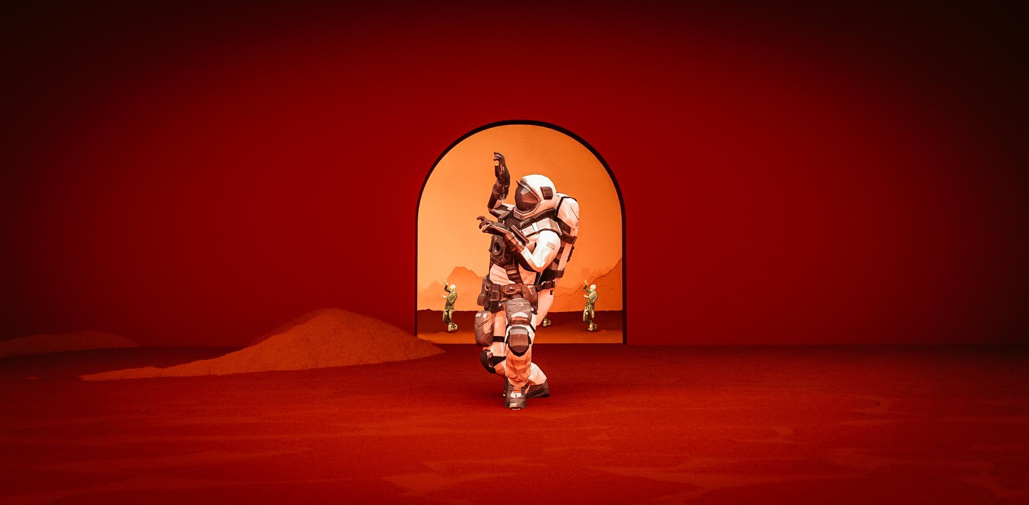 Astronaut dancing to thriller