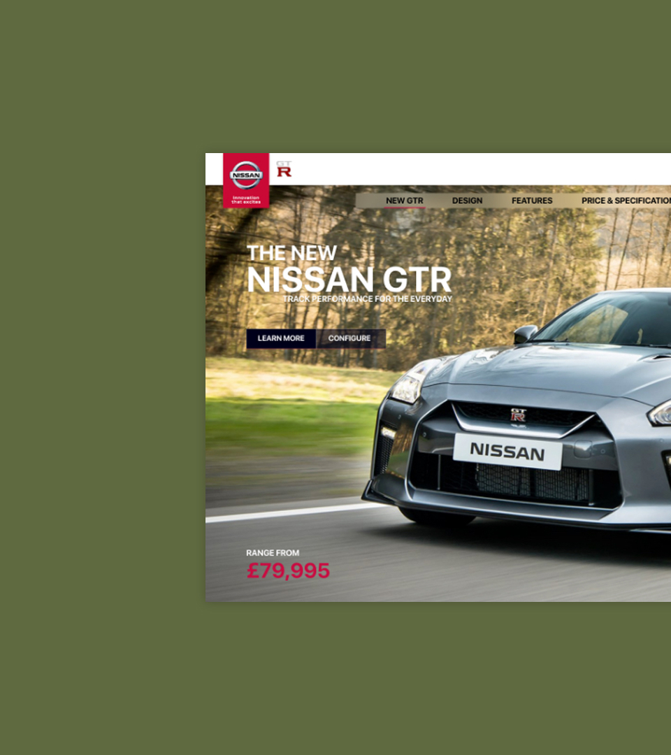 Nissan GTR Website
