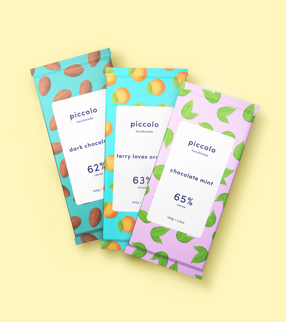 Piccolo Chocolate packaging