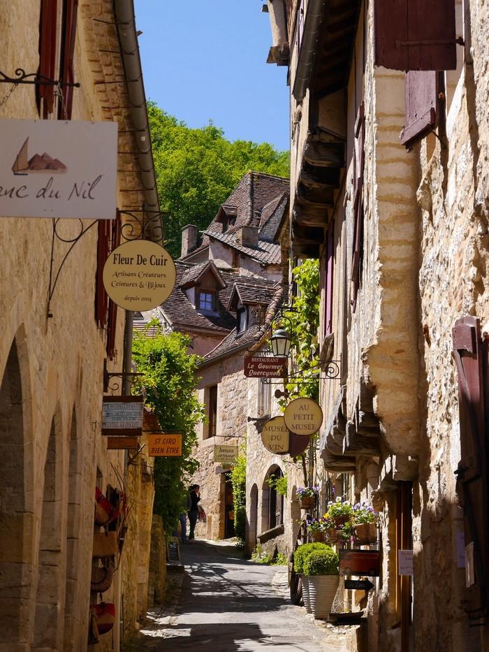 Centre du village de Saint Cirq lapopie