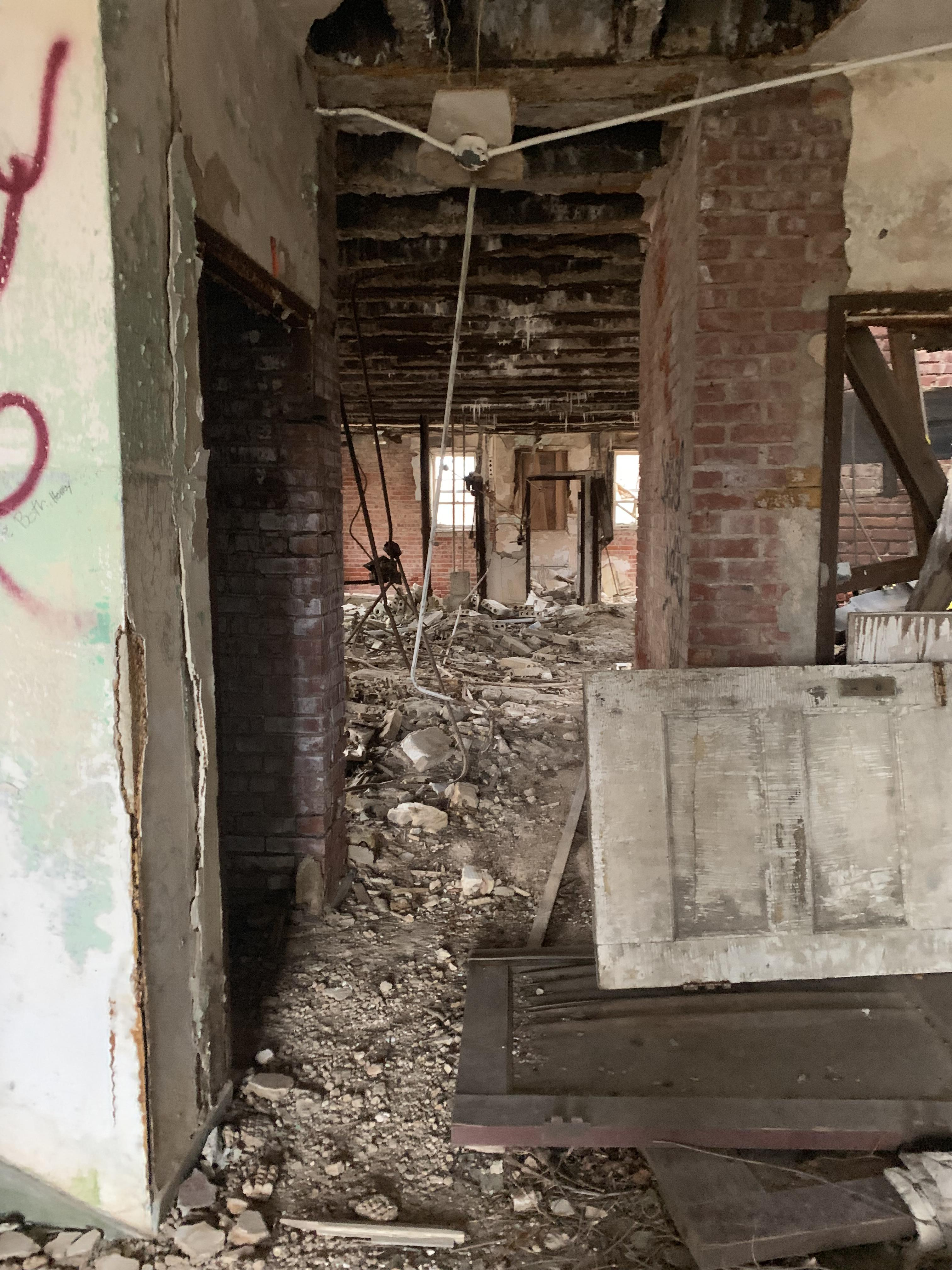 Asbest in oud gebouw