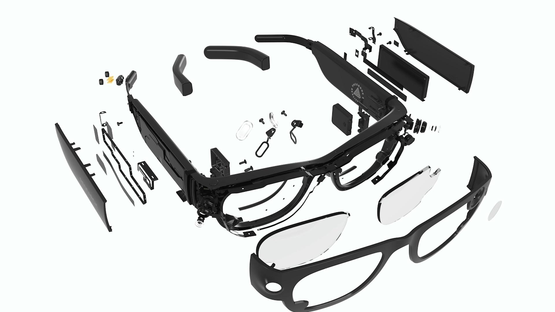 facebook occhiali esploso