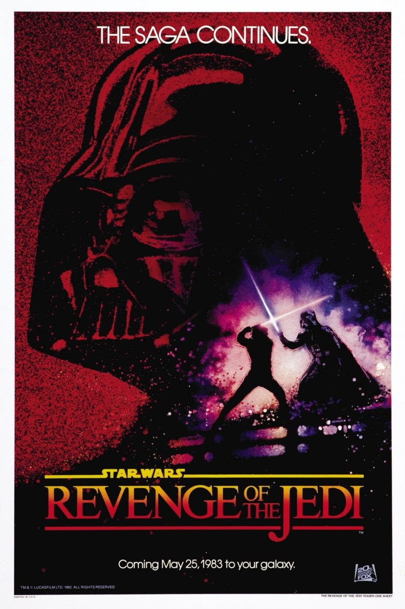 Revenge of the Jedi Poster -Star Wars. Published on Bizongo