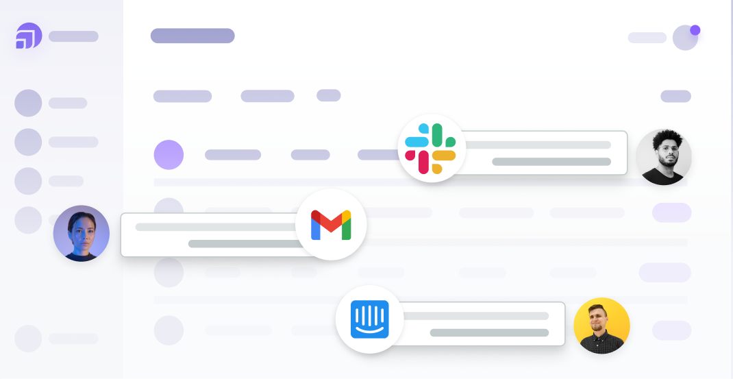 UserVitals integrations (Gmail, Slack, and Intercom) being used to capture feedback