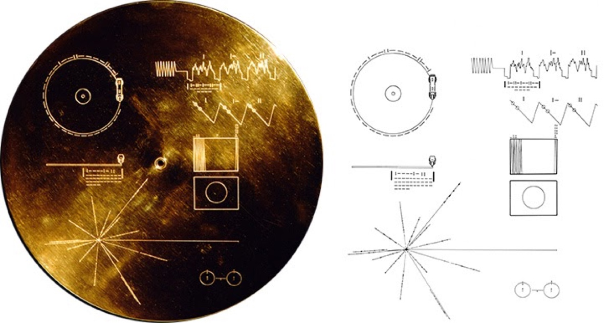The gold plated record carried by Voyager