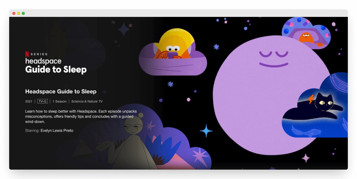 Headspace Guide to Sleep on Netflix