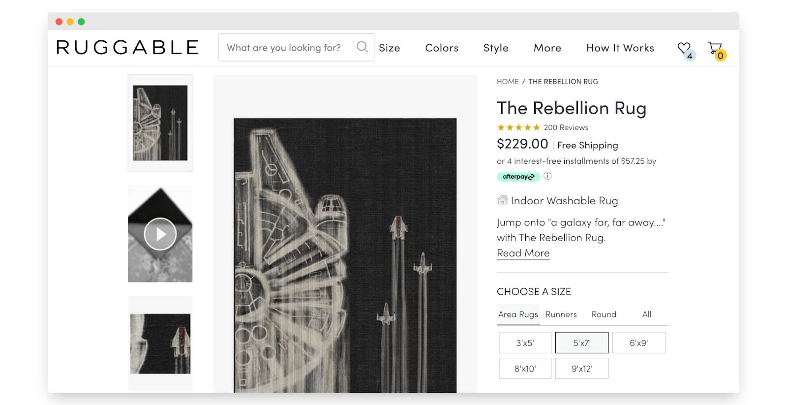 Star Wars Ruggable merchandising