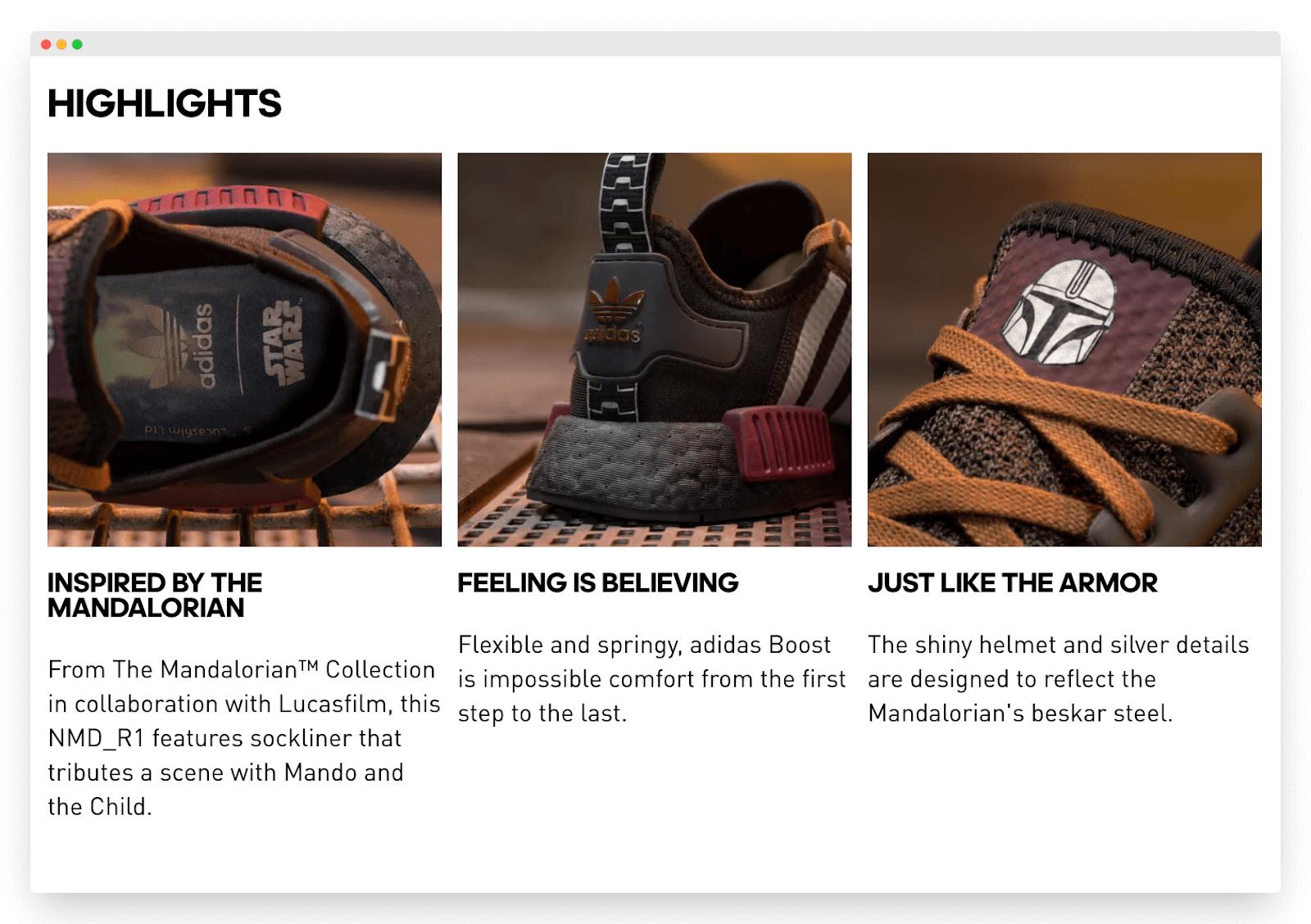 Adidas limited edition Mandalorian merchandise