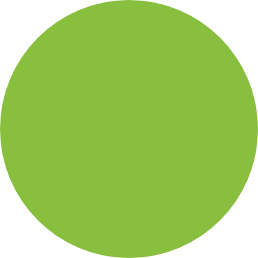 green floating circle