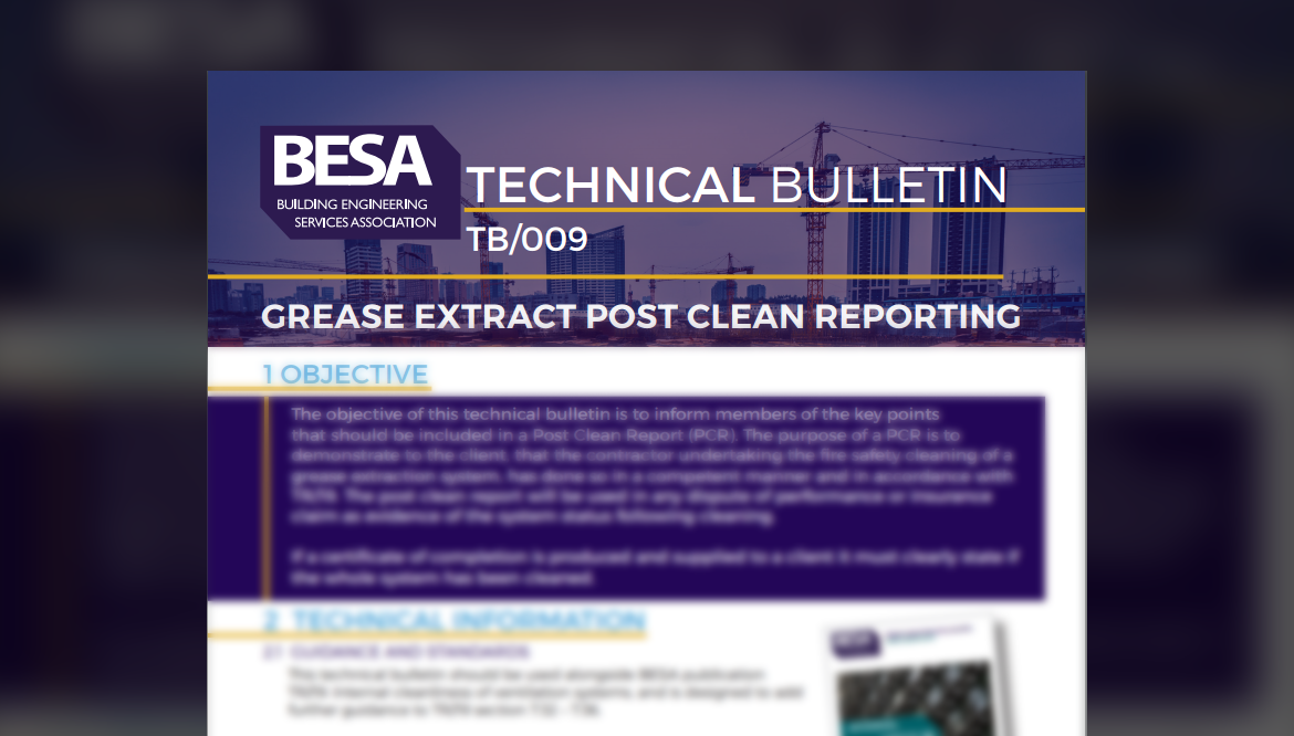 What's Included In A BESA Post Clean Report?