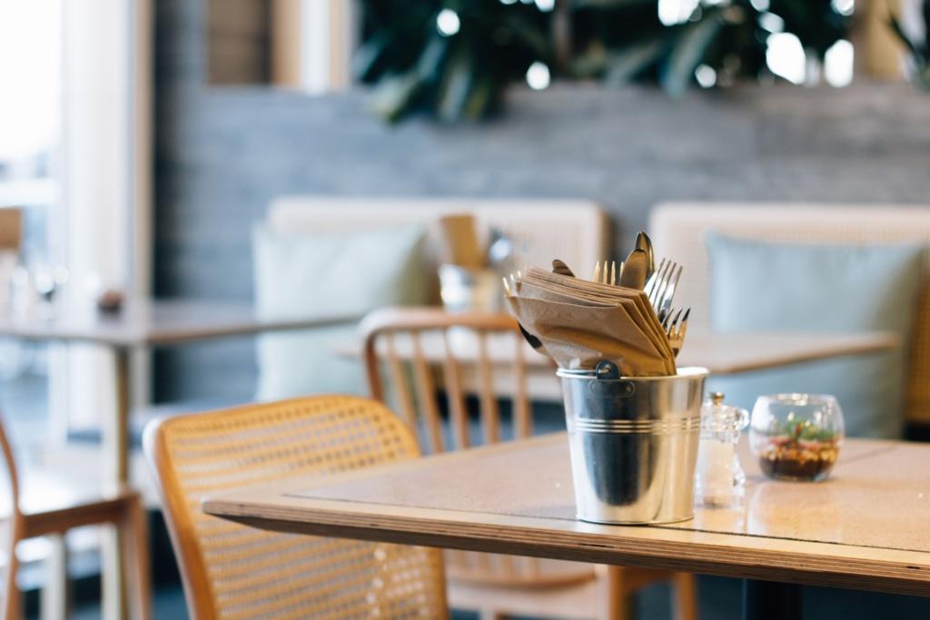 Socially distanced cafe