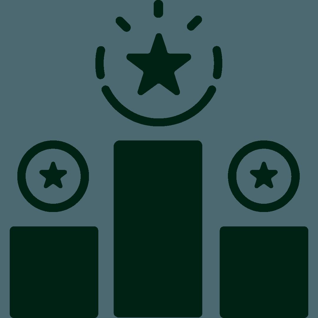 Ícone que ilustra maior competitividade