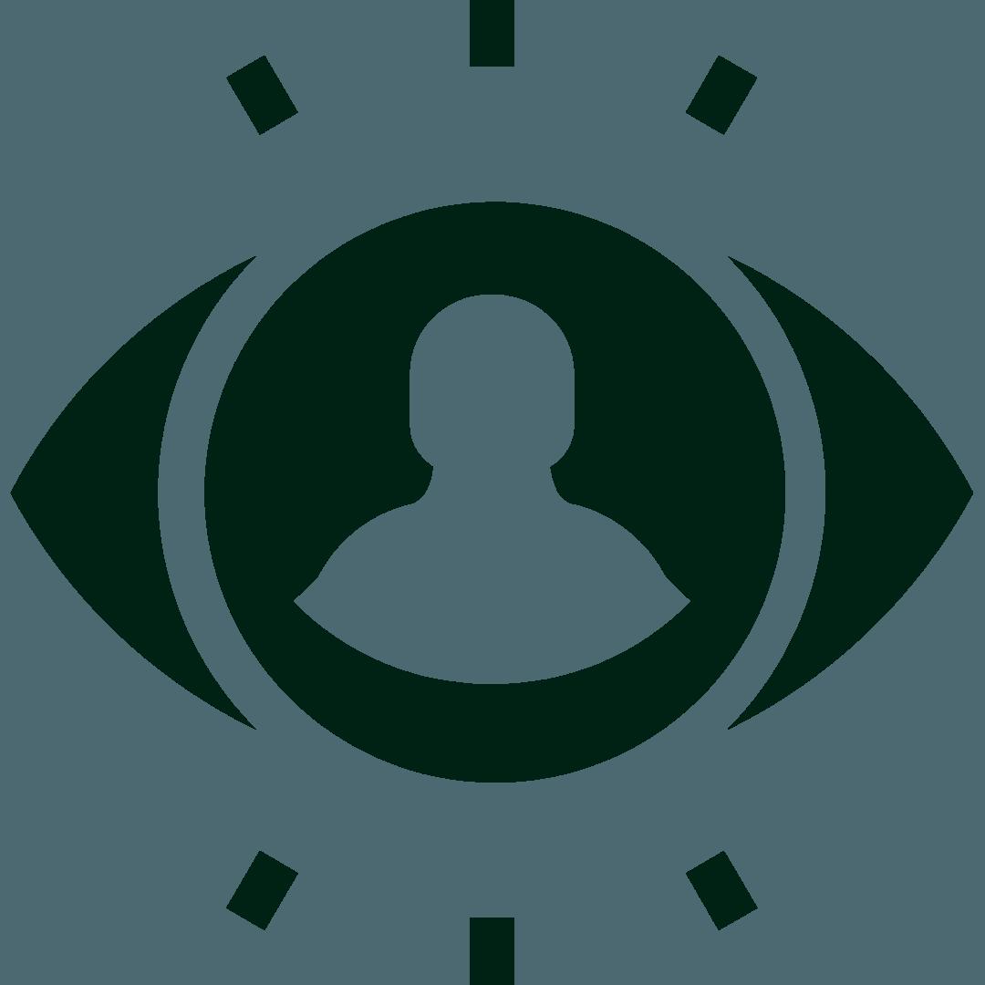 Ícone para ilustrar visibilidade