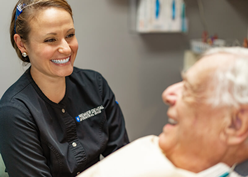Dr Megan is walking a patient through what to expect with a root canal