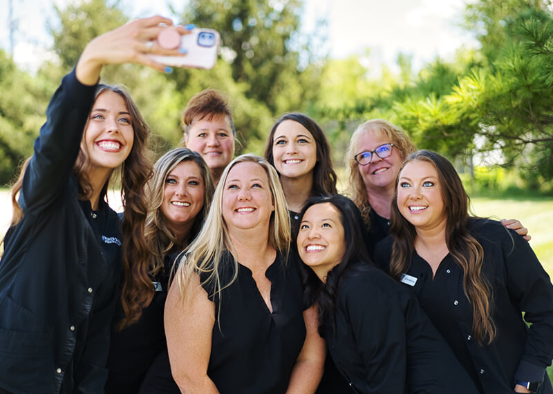 Selfie time with our team