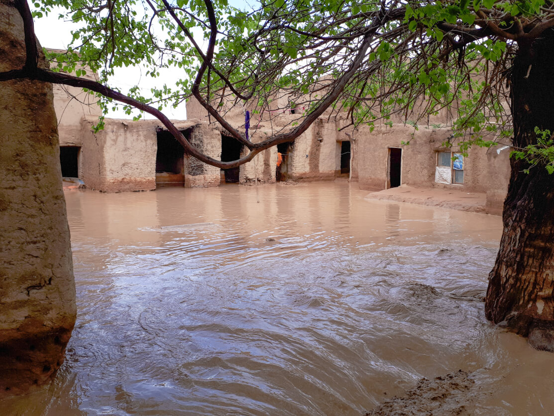 flooded structures in afghanistan