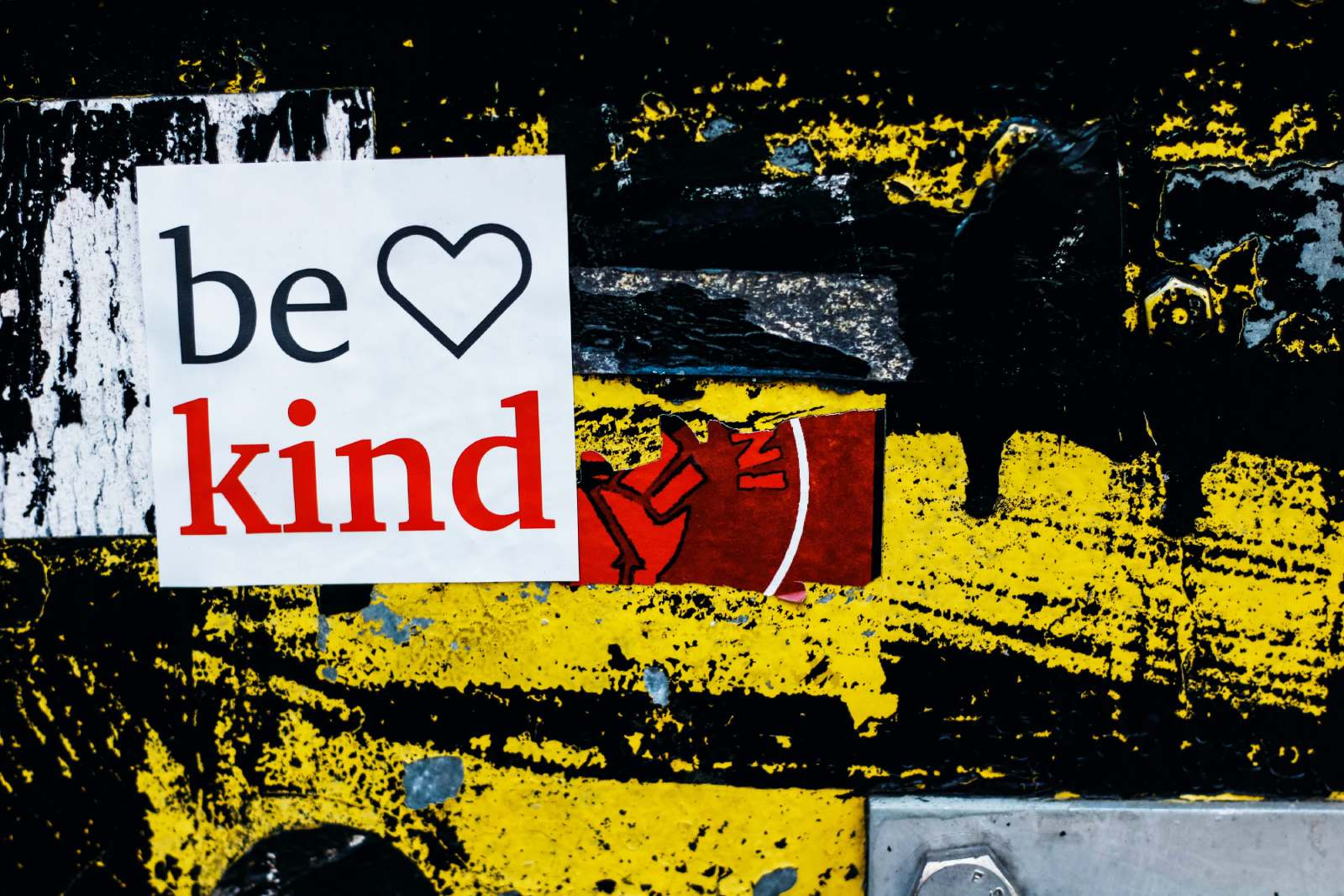 be kind message on wall