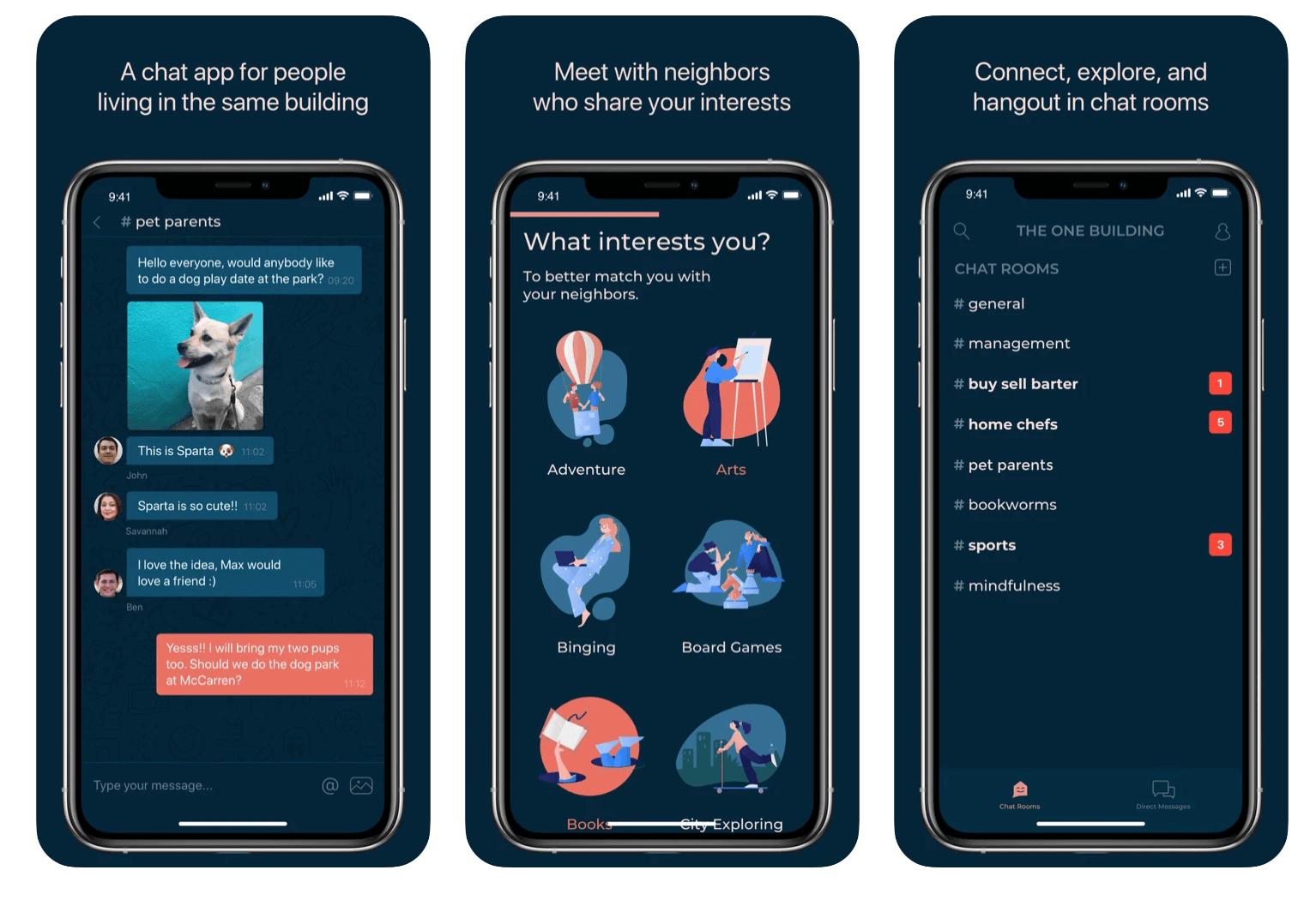 Oneroof app screenshots