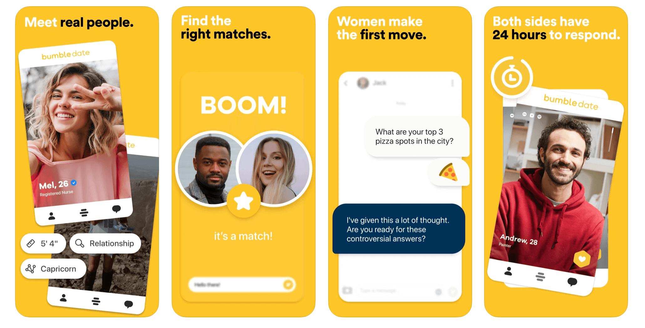 Bumblebff app screenshots