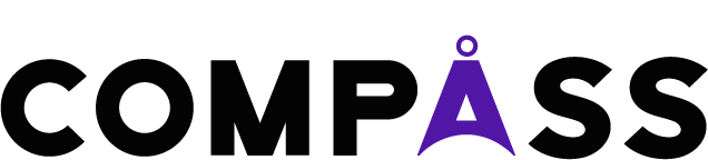 Logo of Compass. Button for Homepage