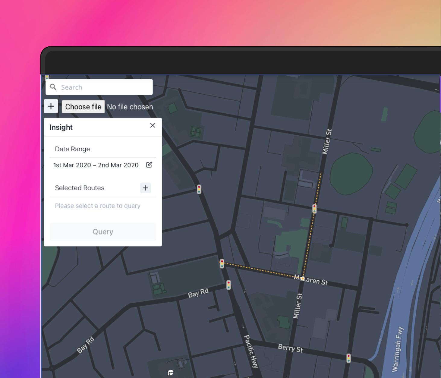 Screenshot of Survey Platform