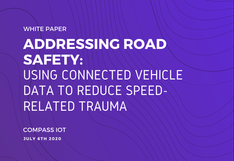 Addressing road safety using connected vehicle data to reduce speed related trauma.