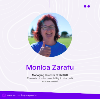 Interview with Monica Zarafu | The role of micro-mobility and shared mobility in the built environment