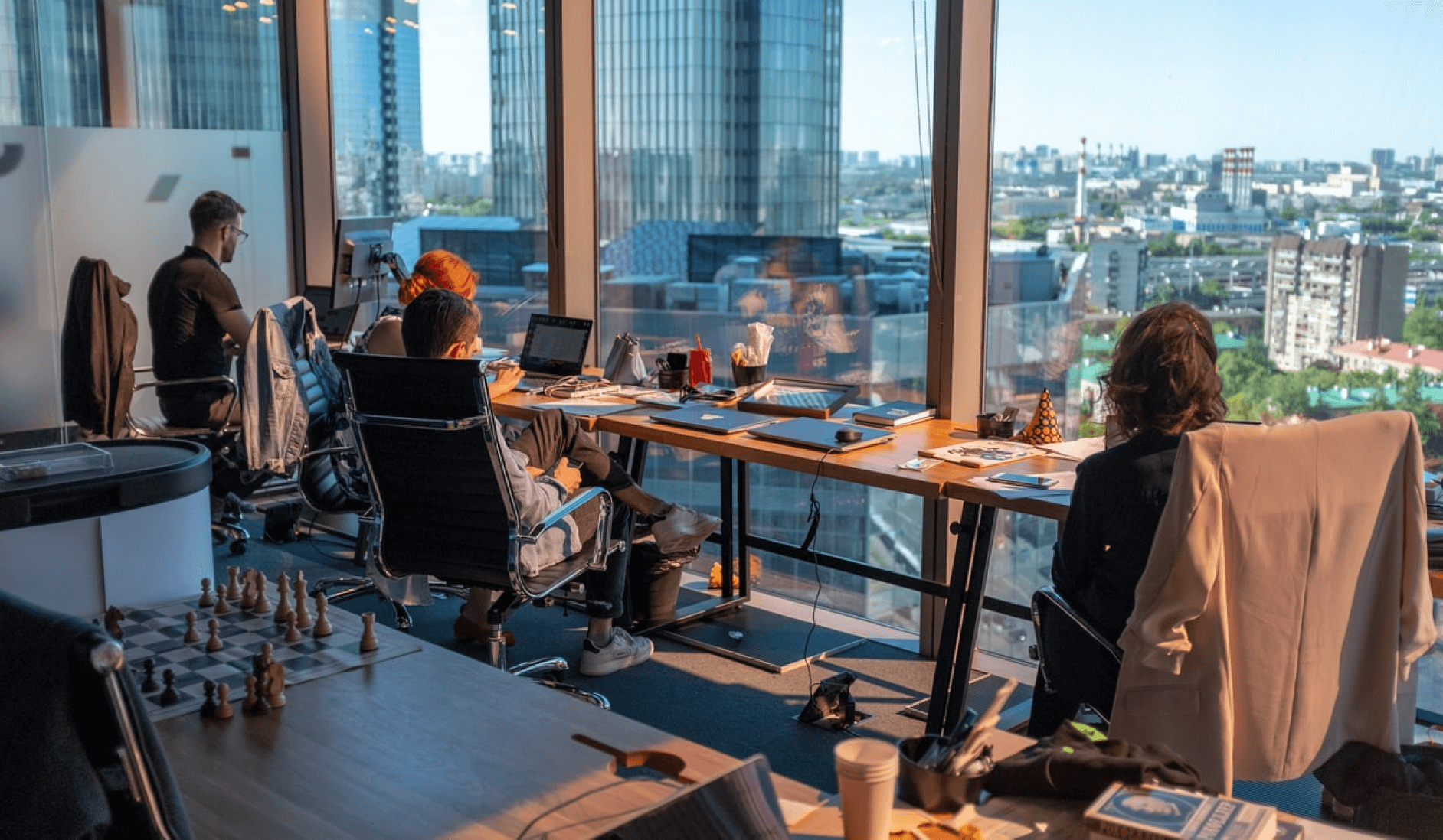 A day in the office of an IT company