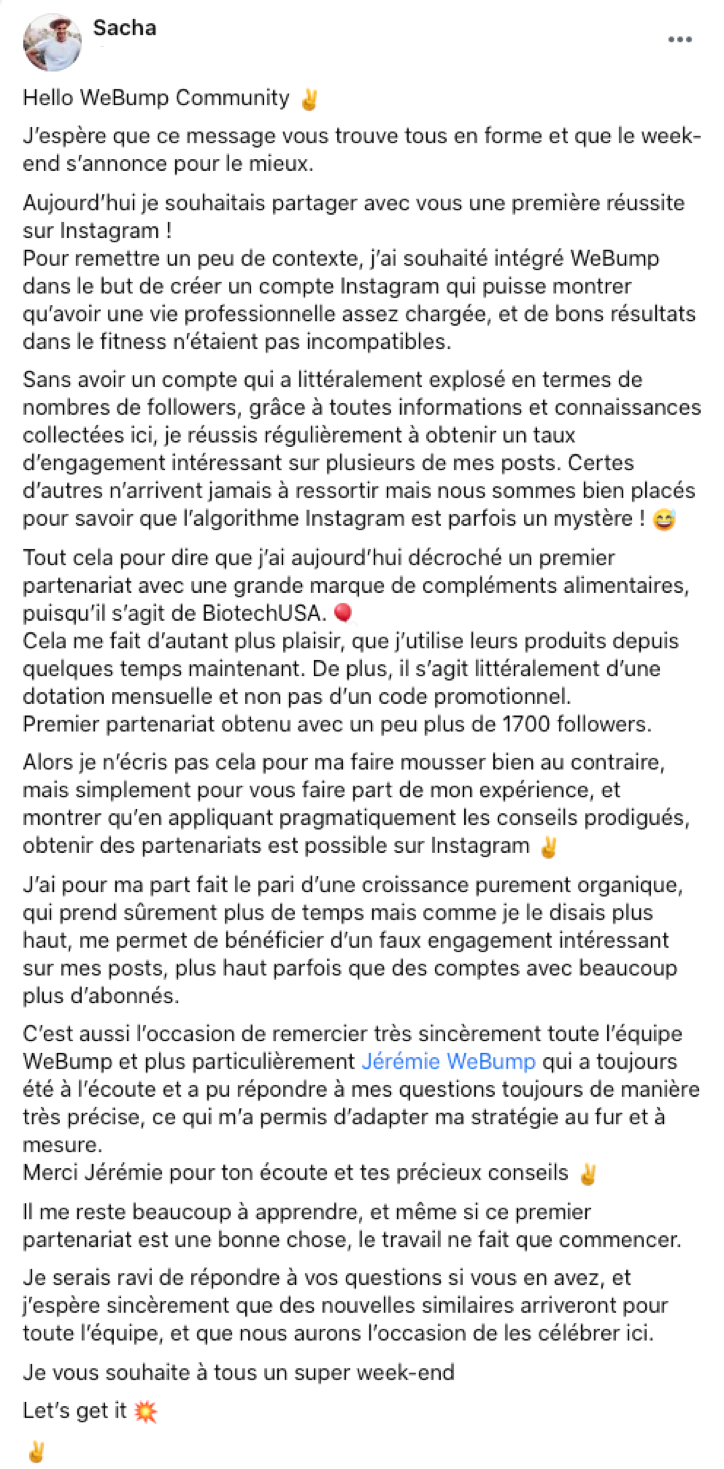 avis formation instagram webump