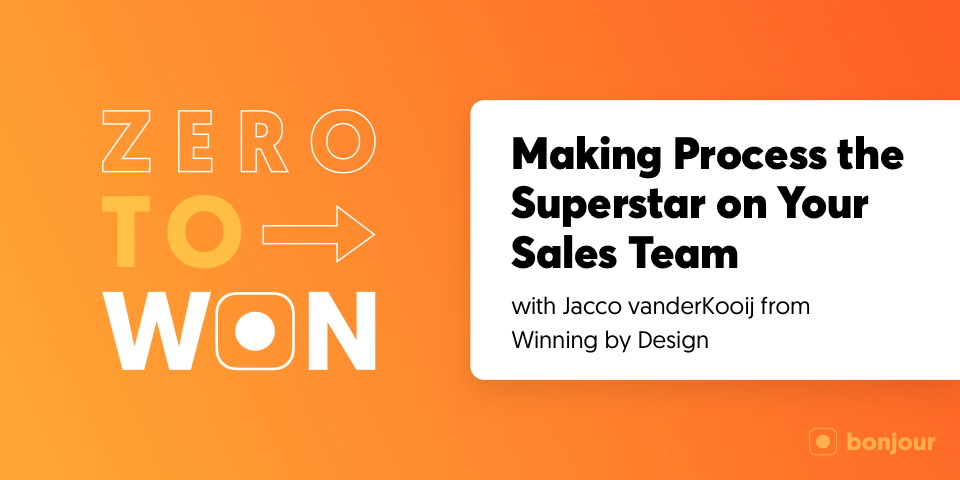 Zero to Won: Making Process the Superstar on Your Sales Team with Jacco vanderKooij (Winning by Design)