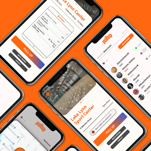 PullUp basketball app case study image for Will Breen Design